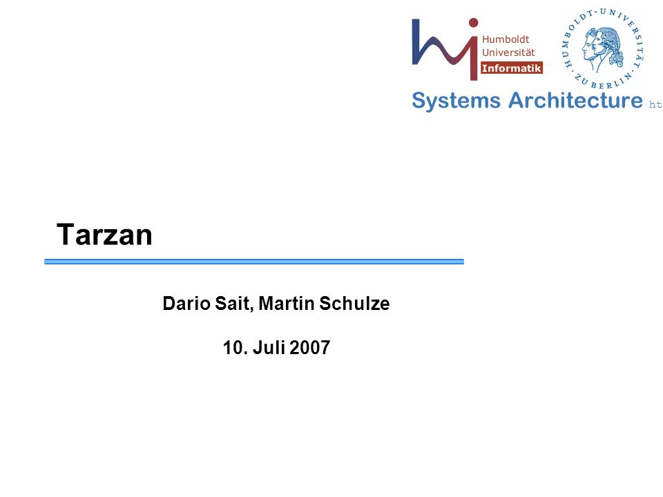 42 May 2006 - 42 Systems Architecture http://sar.informatik.hu-berlin.de Fazit II: Nikita Borisov ● The Tarzan requirement of maintenance of cover traffic and gossiping protocol has bandwidth and storage overhead and it makes a dent on system scalability ● looked less impressive as the performance figures avoided two important aspects, namely, ● 1) the size of the network and ● 2) the overhead of maintaining the cover traffic ● They used wishy-washy terms like 'slightly perceivable delays' instead of providing an exact millisecond figure ● Morphmix is more usable - better performance