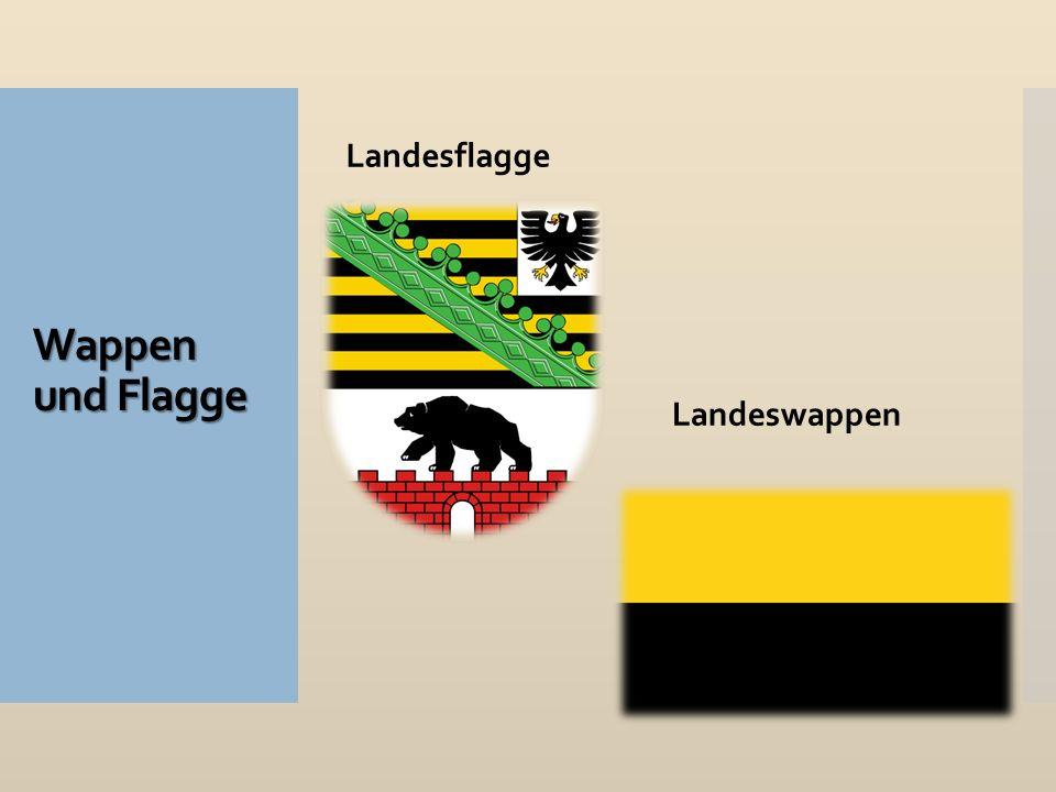 Wappen und Flagge Landesflagge Landeswappen