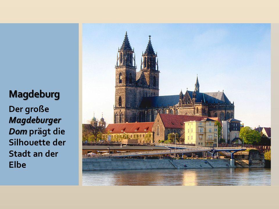 Magdeburg Magdeburger Dom Der große Magdeburger Dom prägt die Silhouette der Stadt an der Elbe