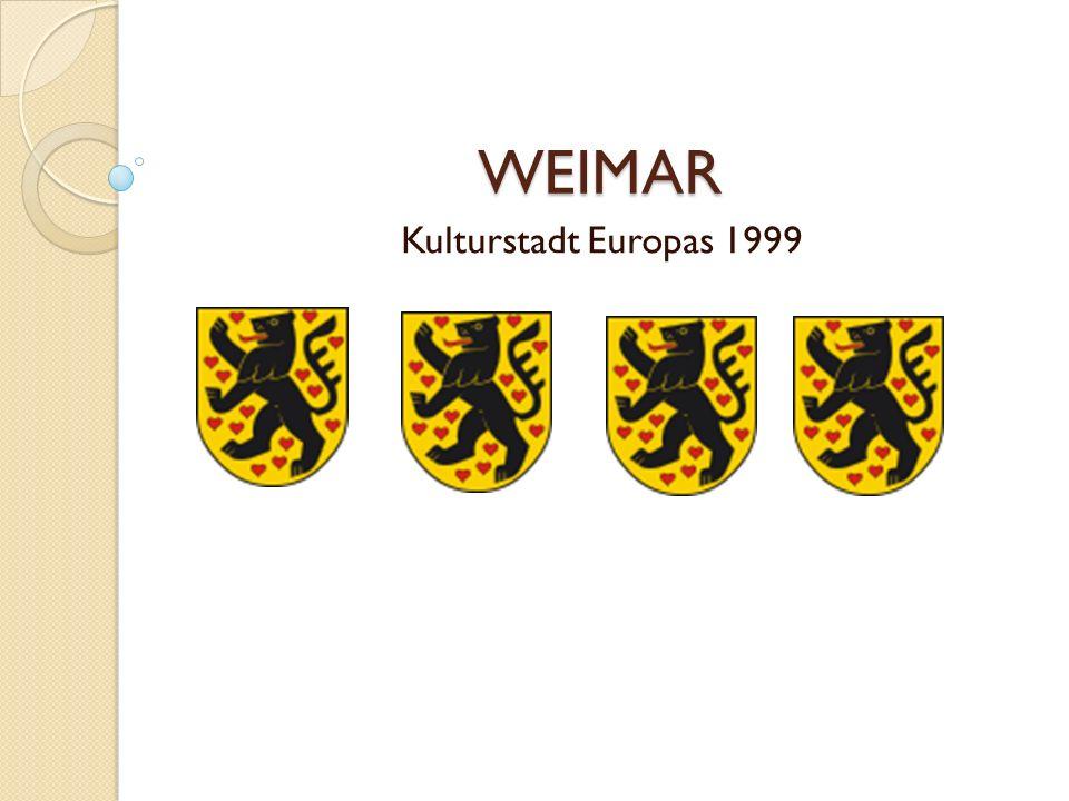 WEIMAR Kulturstadt Europas 1999