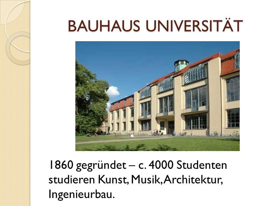 BAUHAUS UNIVERSITÄT 1860 gegründet – c.