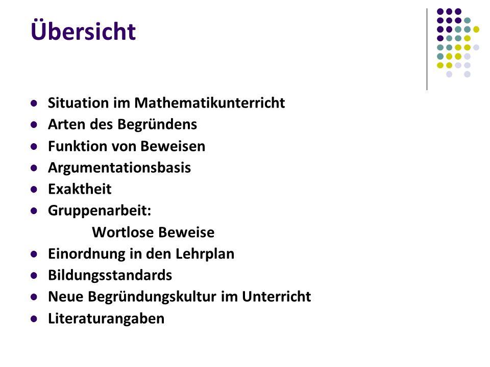 Bildungsstandards (K 1) Mathematisch argumentieren (K 2) Probleme mathematisch lösen (K 4) Mathematische Darstellungen verwenden (K 6) Kommunizieren