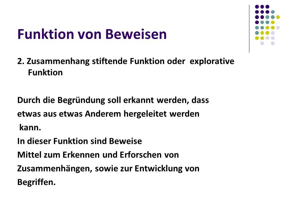 Funktion von Beweisen 2.