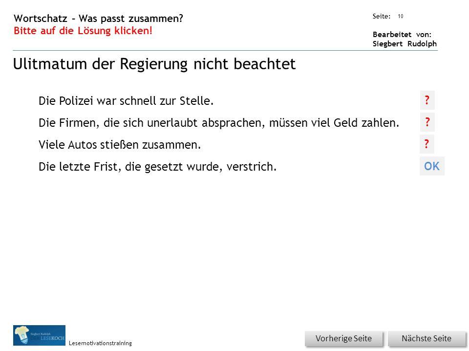 Übungsart: Seite: Bearbeitet von: Siegbert Rudolph Lesemotivationstraining 10 Wortschatz – Was passt zusammen.