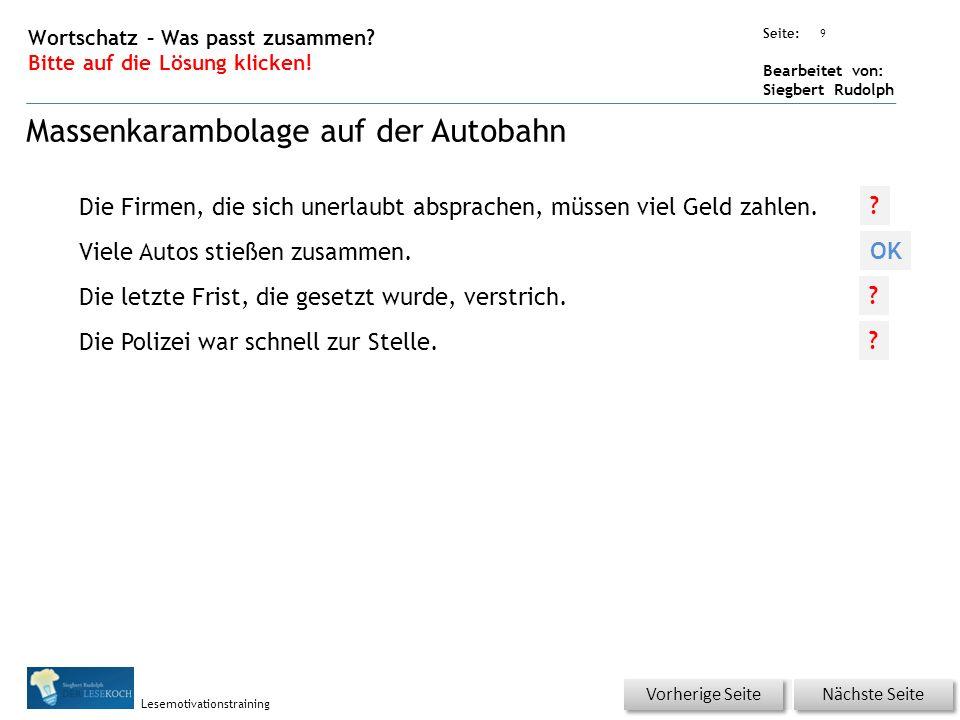 Übungsart: Seite: Bearbeitet von: Siegbert Rudolph Lesemotivationstraining 9 Wortschatz – Was passt zusammen.