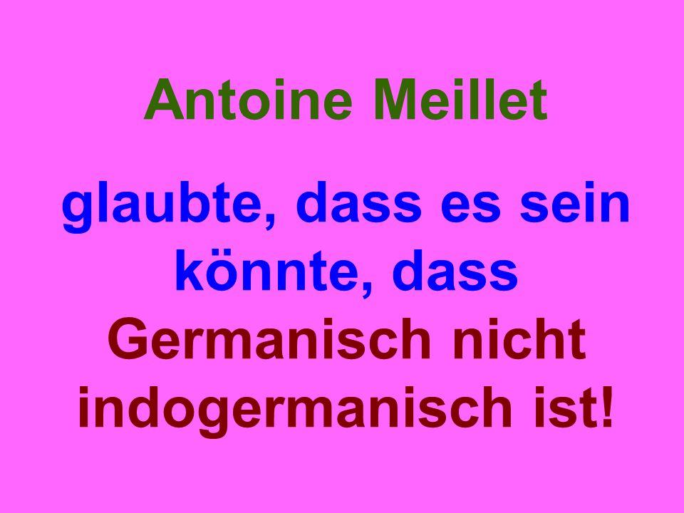 Antoine Meillet glaubte, dass es sein könnte, dass Germanisch nicht indogermanisch ist!