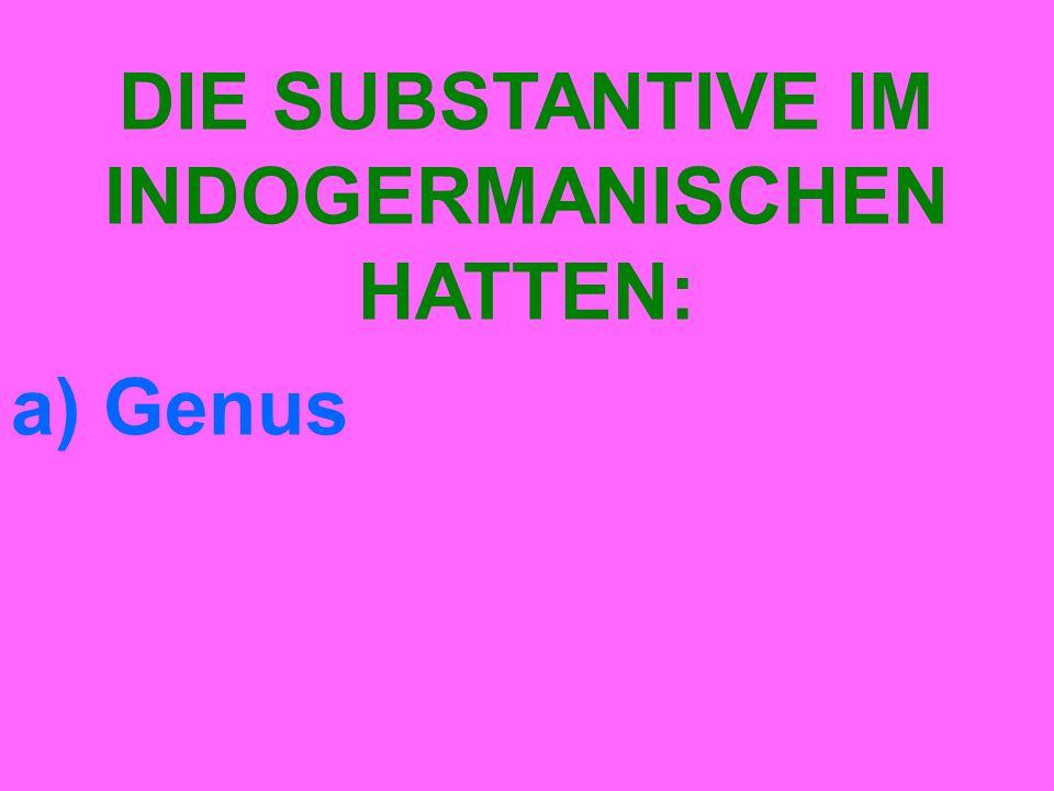 a) Genus