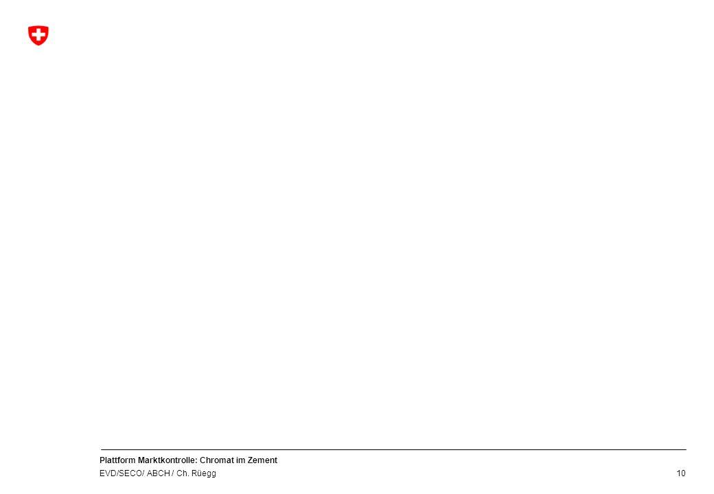 Plattform Marktkontrolle: Chromat im Zement EVD/SECO/ ABCH / Ch. Rüegg 10
