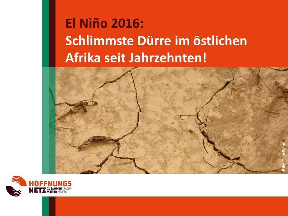 El Niño 2016: Schlimmste Dürre im östlichen Afrika seit Jahrzehnten.