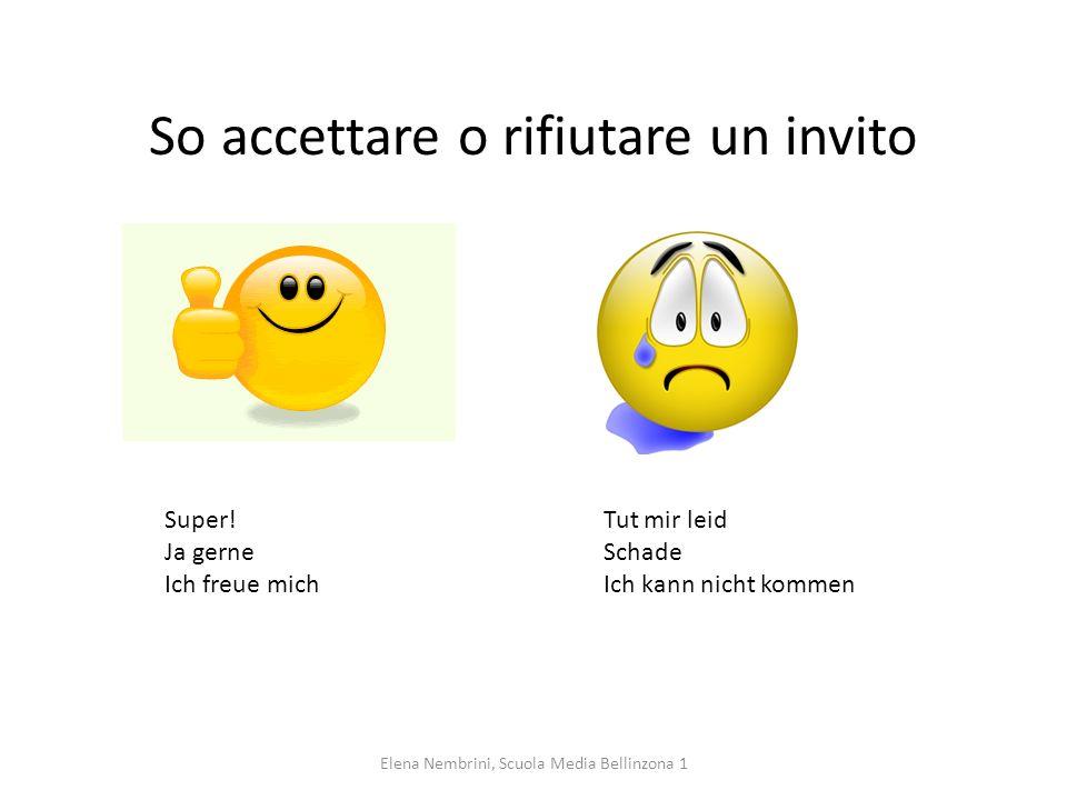 So motivare la mancata partecipazione a una festa. Elena Nembrini, Scuola Media Bellinzona 1