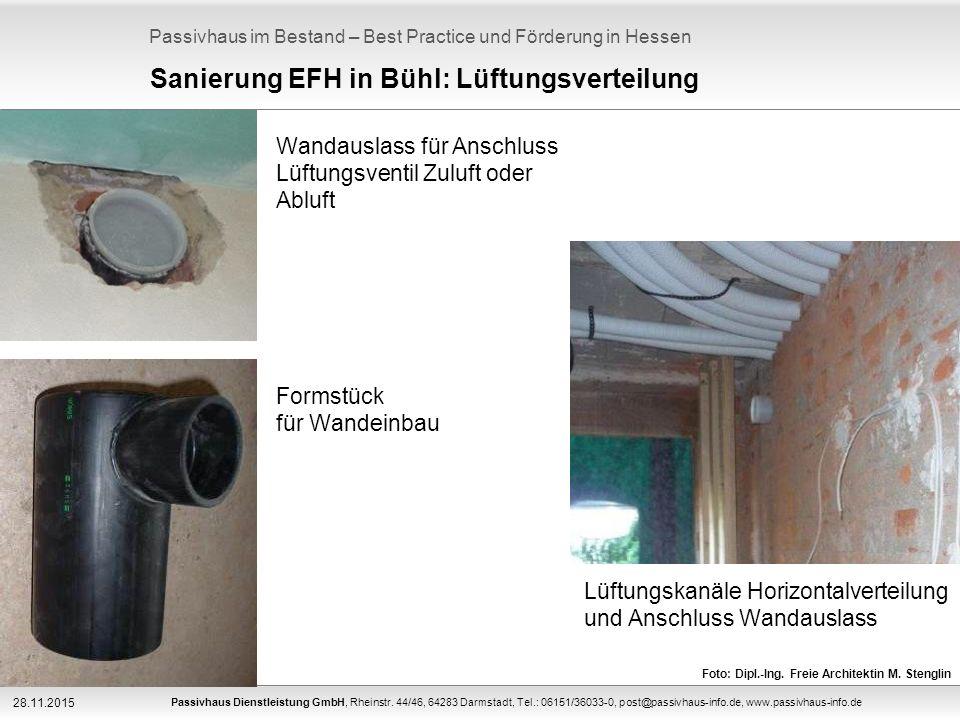Passivhaus im Bestand – Best Practice und Förderung in Hessen Passivhaus Dienstleistung GmbH, Rheinstr.
