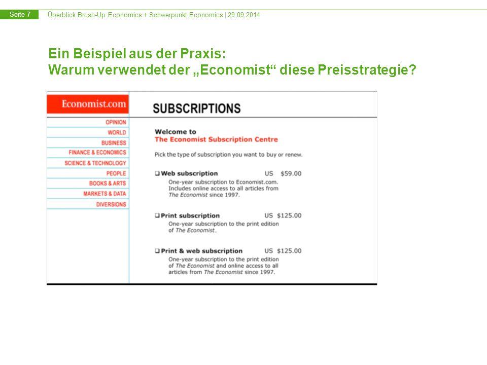 Überblick Brush-Up Economics + Schwerpunkt Economics   29.09.2014 Seite 18 Empirische Wirtschaftsforschung – graf.