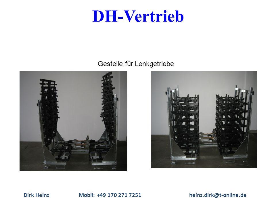 Dirk HeinzMobil: +49 170 271 7251heinz.dirk@t-online.de Gestelle für Lenkgetriebe DH-Vertrieb