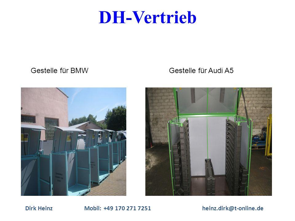 Dirk HeinzMobil: +49 170 271 7251heinz.dirk@t-online.de Gestelle für BMWGestelle für Audi A5 DH-Vertrieb