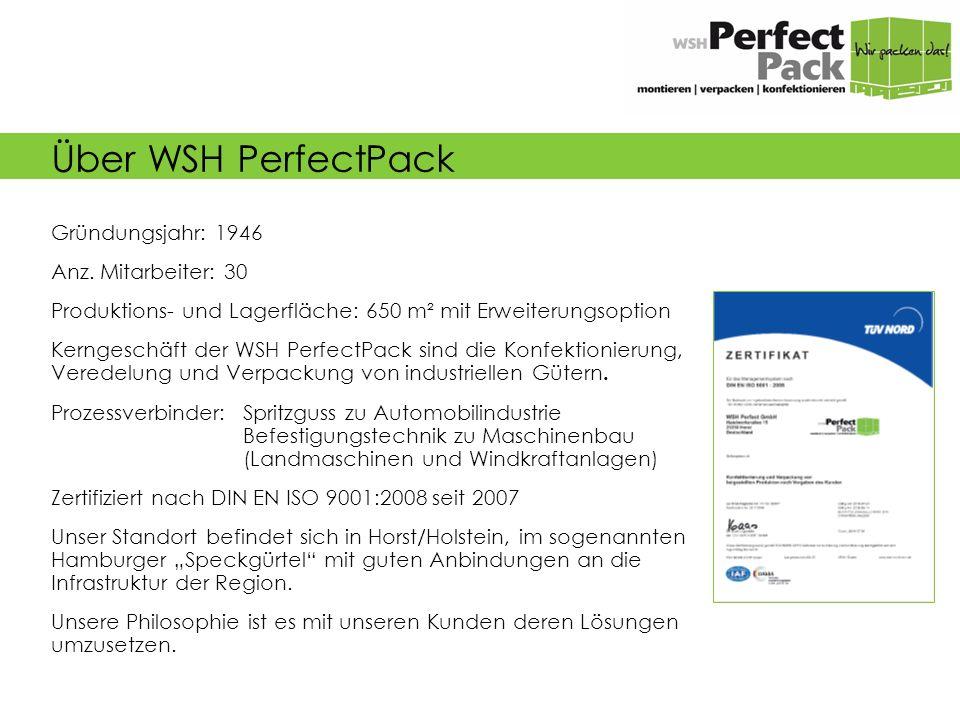 Über WSH PerfectPack Gründungsjahr: 1946 Anz.