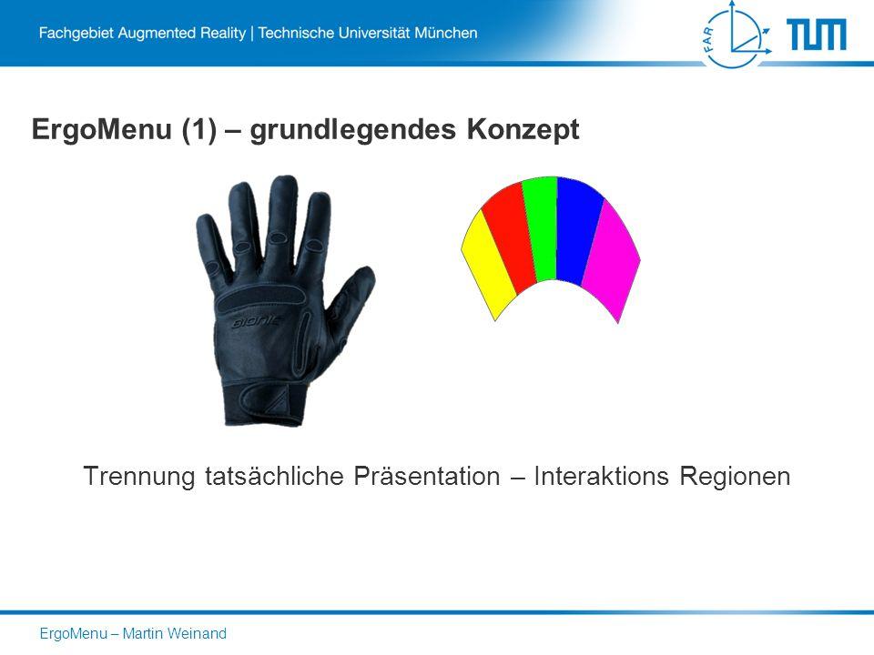 ErgoMenu (1) – grundlegendes Konzept Trennung tatsächliche Präsentation – Interaktions Regionen ErgoMenu – Martin Weinand