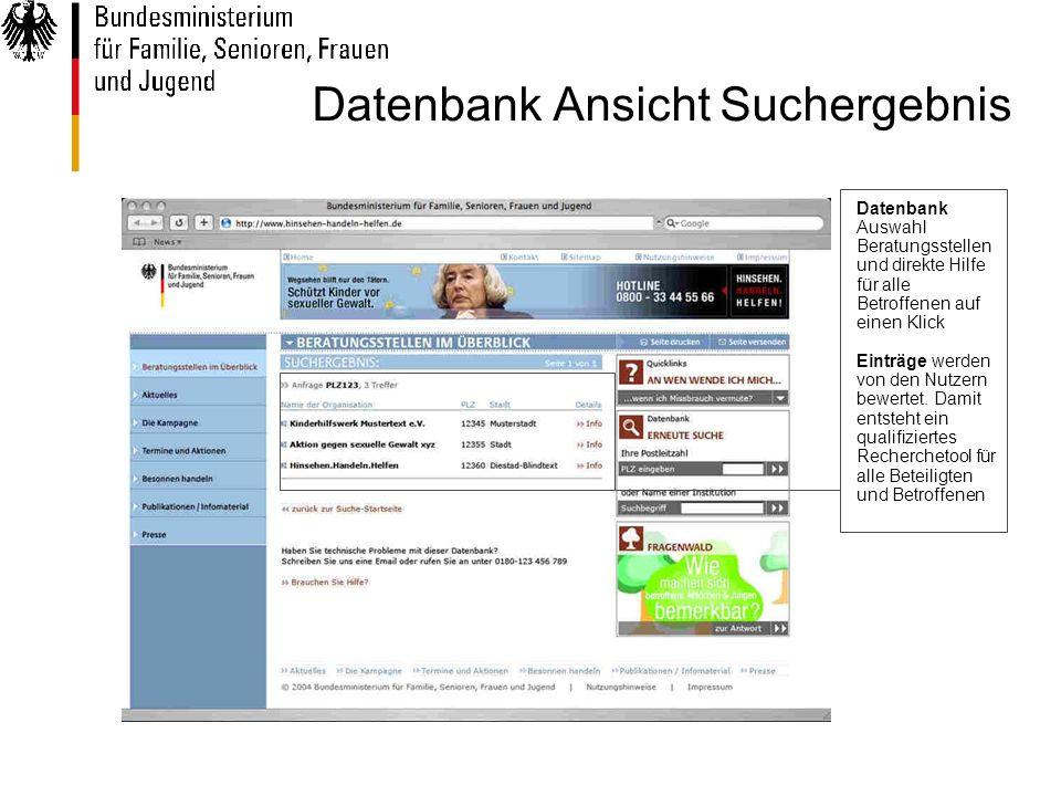 Datenbank Auswahl Beratungsstellen und direkte Hilfe für alle Betroffenen auf einen Klick Einträge werden von den Nutzern bewertet.