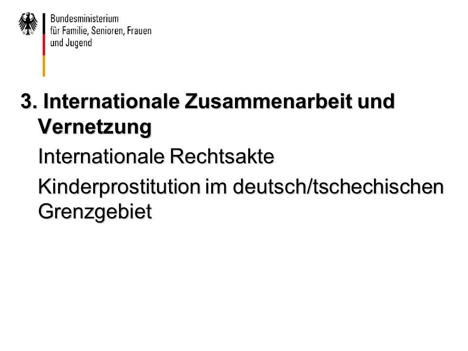 3. Internationale Zusammenarbeit und Vernetzung Internationale Rechtsakte Kinderprostitution im deutsch/tschechischen Grenzgebiet