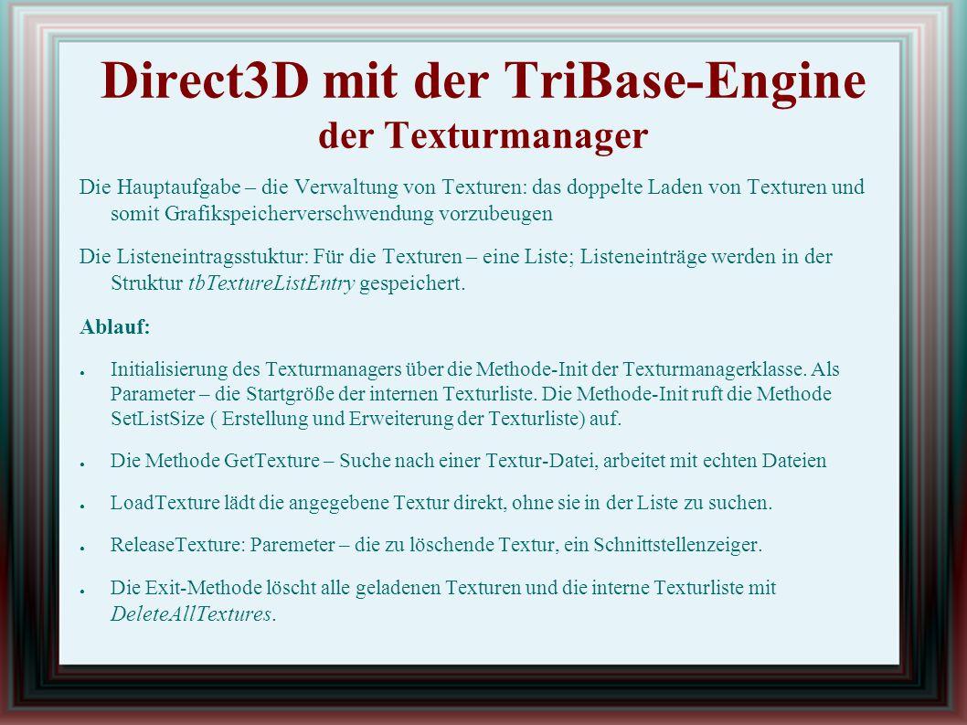 Modelldateien Der Konverter Erstellung einer Datei im neuen Format: dazu - > das TriBase-Tool Model Converter: 3DS-Dateien werden in TBM-Dateien konvertiert.