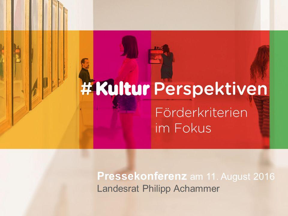 Pressekonferenz am 11. August 2016 Landesrat Philipp Achammer