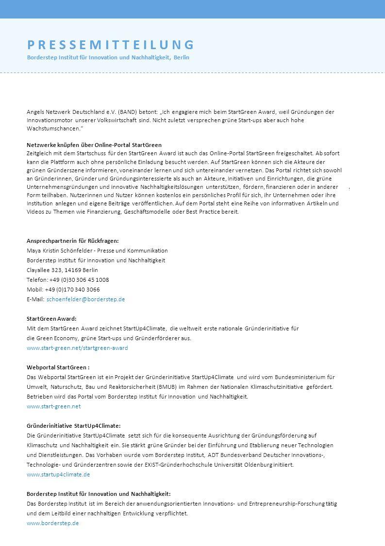 Berlin, 18. Oktober 2012 – Nachhaltigkeit, Innovationen, Energiewende – es vergeht kaum ein Tag ohne diese Schlagwörter in den Titelzeilen der deutsch