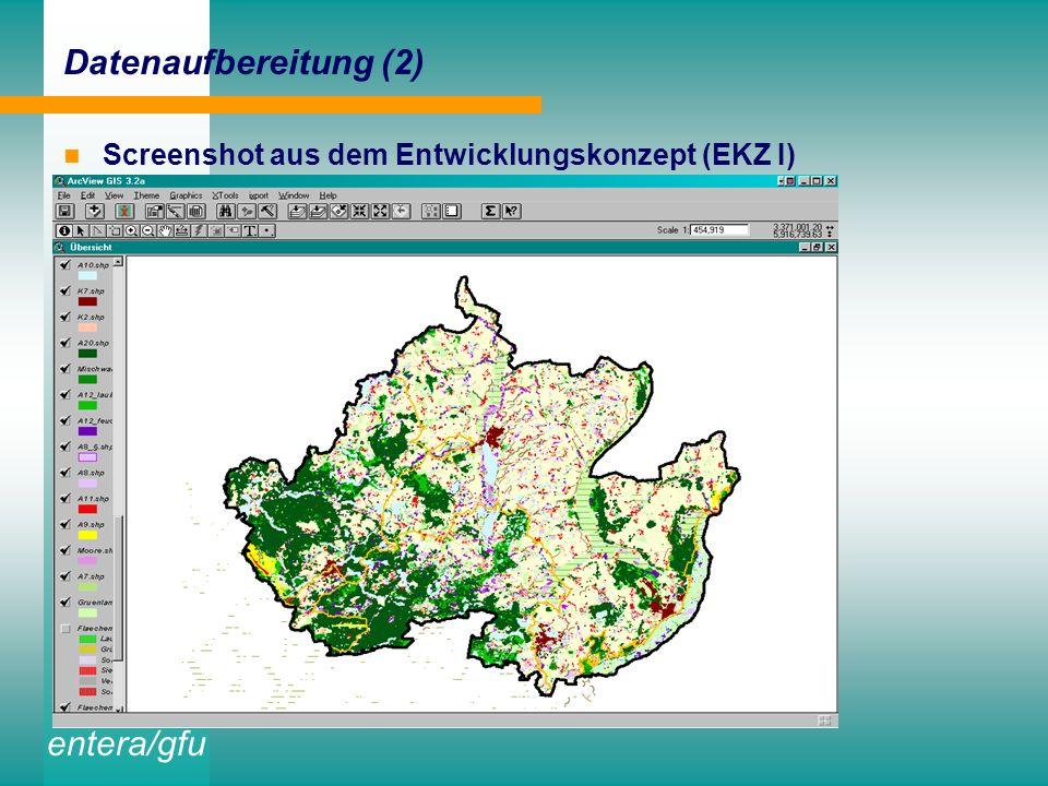 entera/gfu Aufbereitung des digitalen Datenbestandes der UNB in thematischen Layern ergänzende Digitalisierung und GIS-gestützte Aufbereitung von Einz