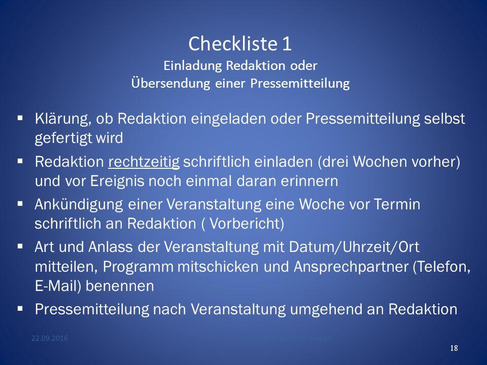 Checklisten (1)Einladung Redaktion bzw.