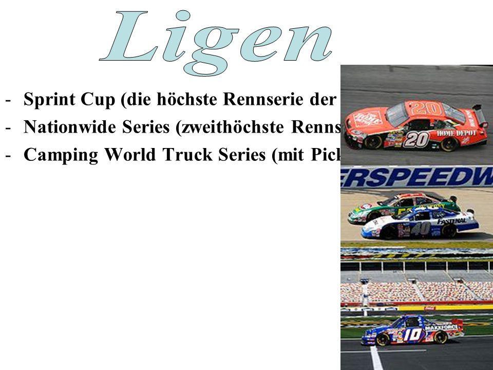 -Sprint Cup (die höchste Rennserie der NASCAR) -Nationwide Series (zweithöchste Rennserie.