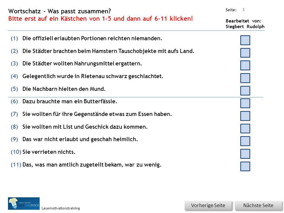 Übungsart: Seite: Bearbeitet von: Siegbert Rudolph Lesemotivationstraining 2 16 Hamstern – bitte klicken.