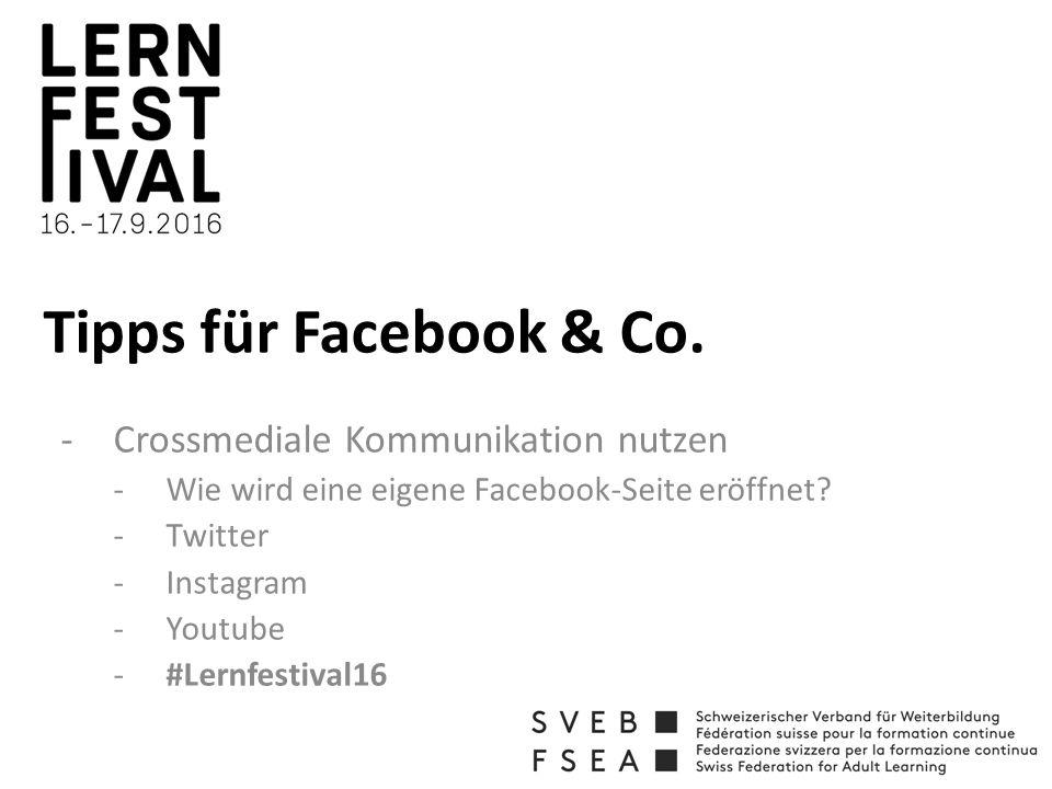 Tipps für Facebook & Co.