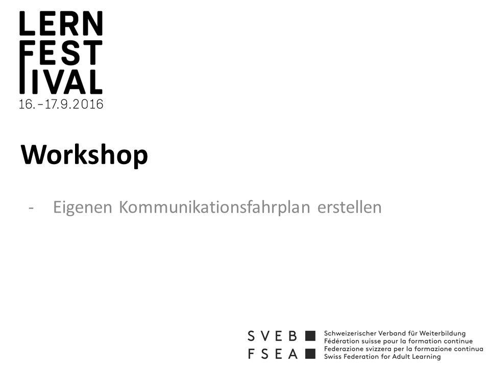 Workshop -Eigenen Kommunikationsfahrplan erstellen