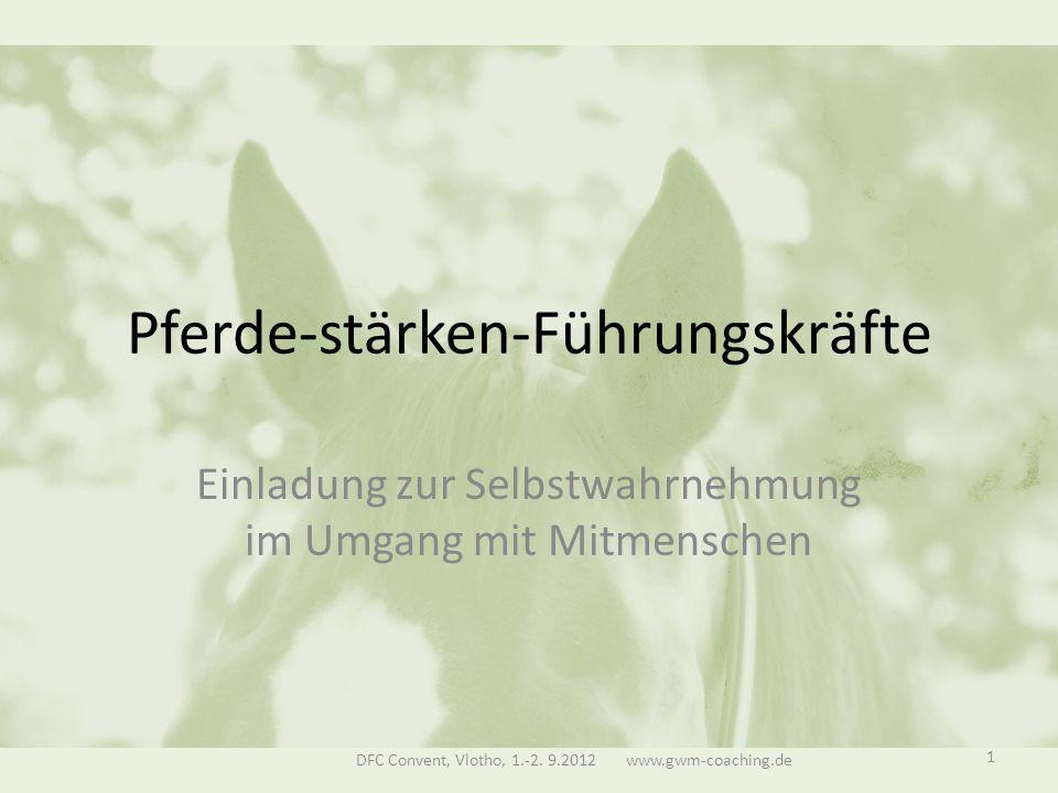 Pferde-stärken-Führungskräfte Einladung zur Selbstwahrnehmung im Umgang mit Mitmenschen DFC Convent, Vlotho, 1.-2.