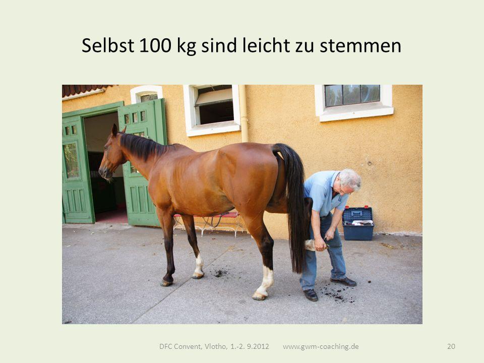 Selbst 100 kg sind leicht zu stemmen DFC Convent, Vlotho, 1.-2. 9.2012 www.gwm-coaching.de20