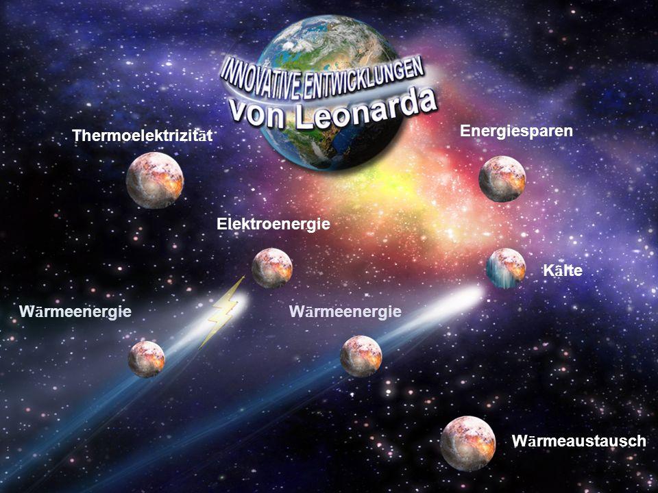 Energiesparen W ӓ rmeaustausch Thermoelektrizit ӓ t W ӓ rmeenergie Elektroenergie W ӓ rmeenergie K ӓ lte