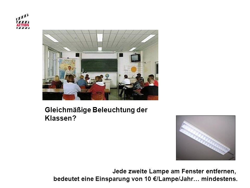 Jede zweite Lampe am Fenster entfernen, bedeutet eine Einsparung von 10 €/Lampe/Jahr… mindestens.