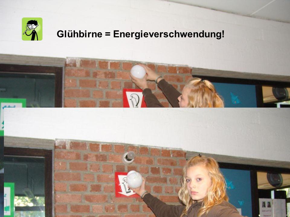 Glühbirne = Energieverschwendung!