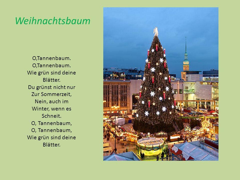 Weihnachtsbaum O,Tannenbaum. Wie grün sind deine Blätter.