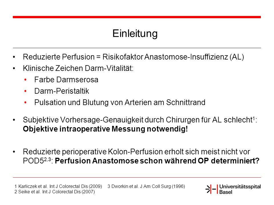 Methodik Before mobilization (reference) M1 caecum M2 prox.