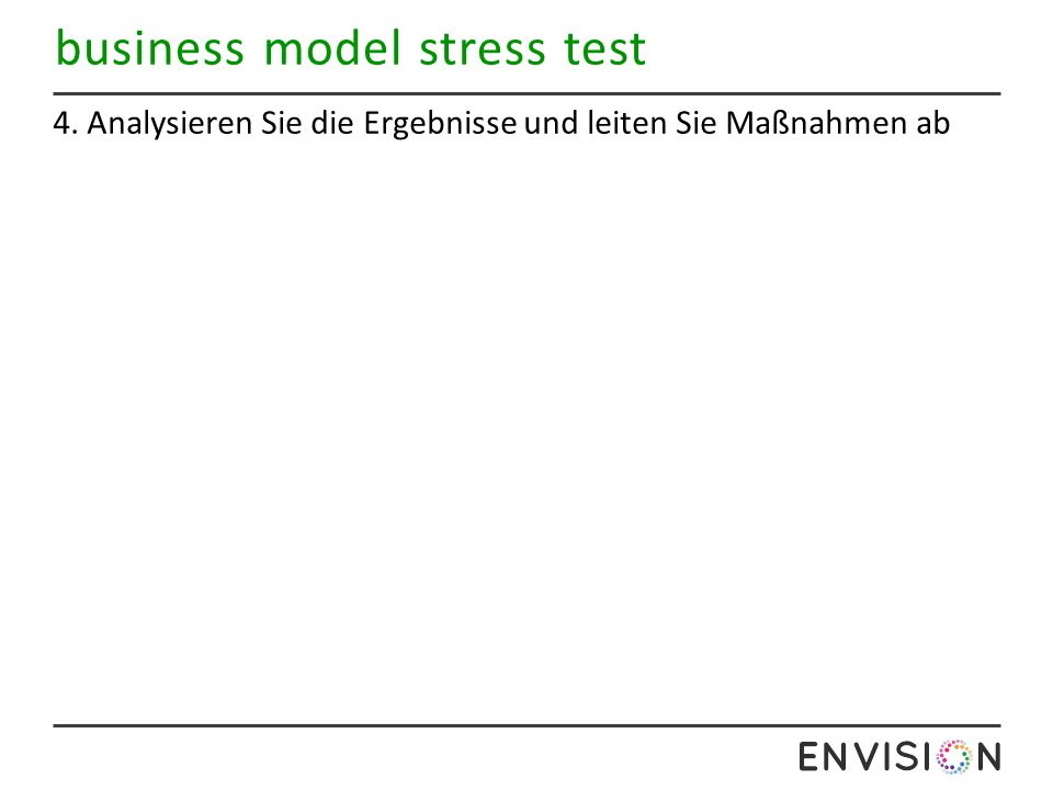 business model stress test 4. Analysieren Sie die Ergebnisse und leiten Sie Maßnahmen ab