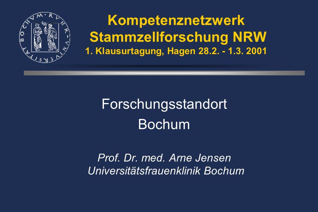 Kompetenznetzwerk Stammzellforschung NRW 1. Klausurtagung, Hagen 28.2.