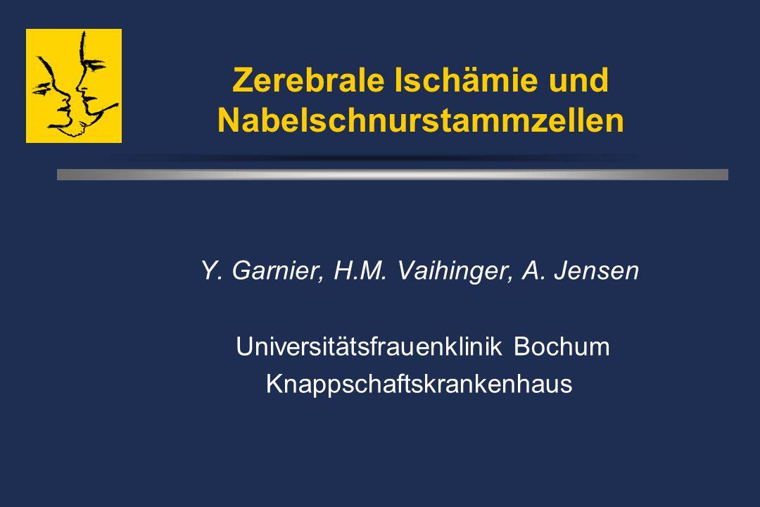 Zerebrale Ischämie und Nabelschnurstammzellen Y. Garnier, H.M.