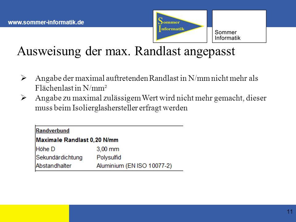 www.sommer-informatik.de Ausweisung der max.