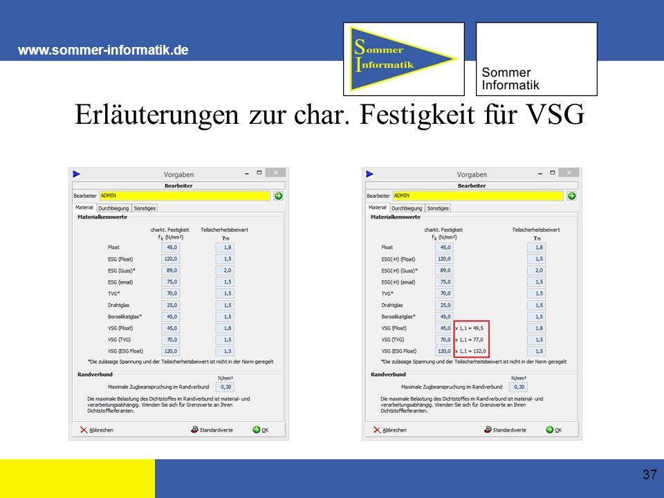 www.sommer-informatik.de Erläuterungen zur char. Festigkeit für VSG 37
