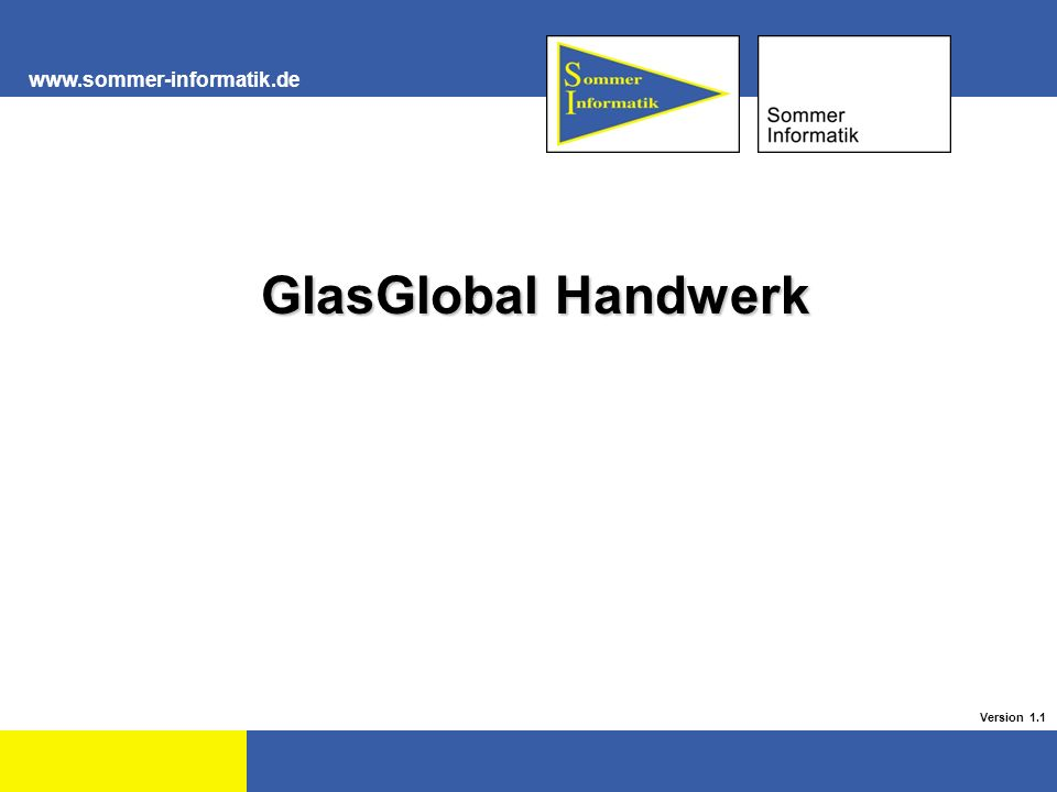 GlasGlobal Handwerk GlasGlobal Handwerk Version 1.1