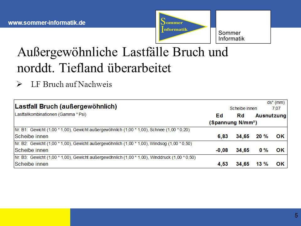 www.sommer-informatik.de Außergewöhnliche Lastfälle Bruch und norddt.