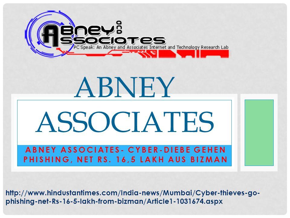 Abney Associates- Cyber-Diebe gehen Phishing, net Rs.