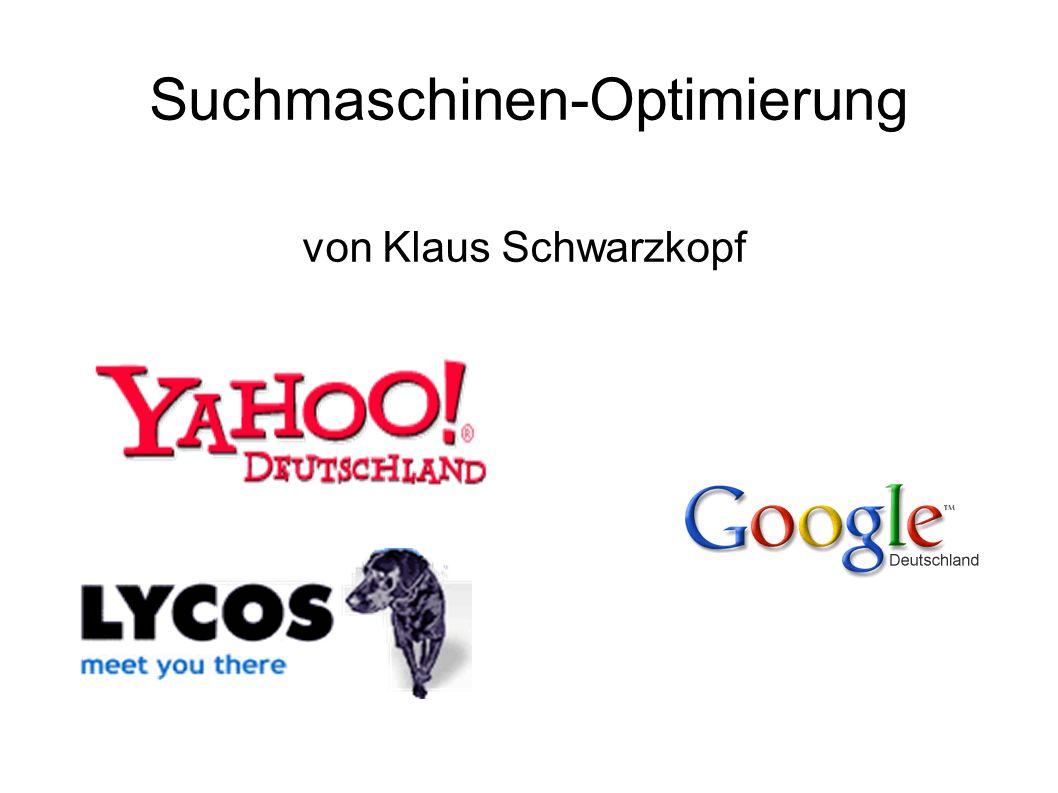Suchmaschinen-Optimierung von Klaus Schwarzkopf