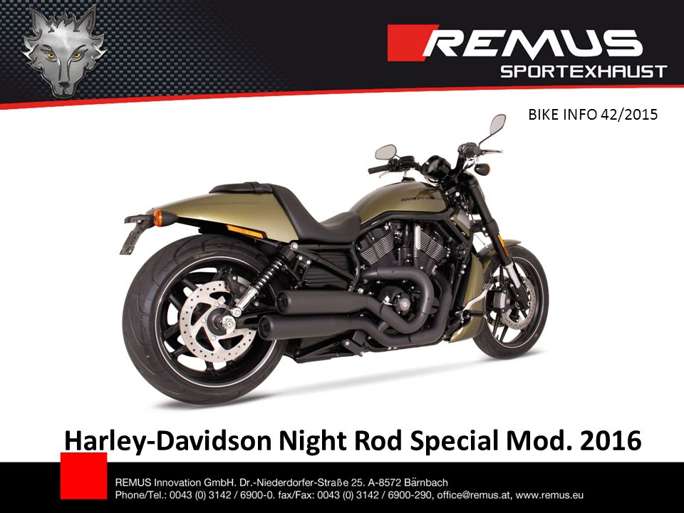 Harley-Davidson Night Rod Special Mod. 2016 BIKE INFO 42/2015