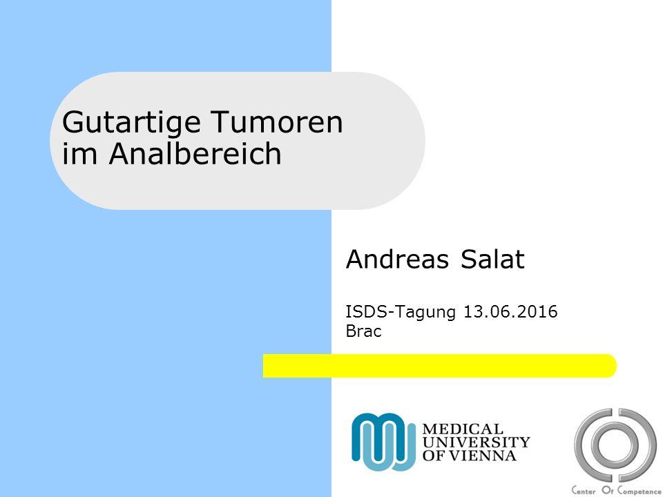 Gutartige Tumoren im Analbereich Andreas Salat ISDS-Tagung 13.06.2016 Brac