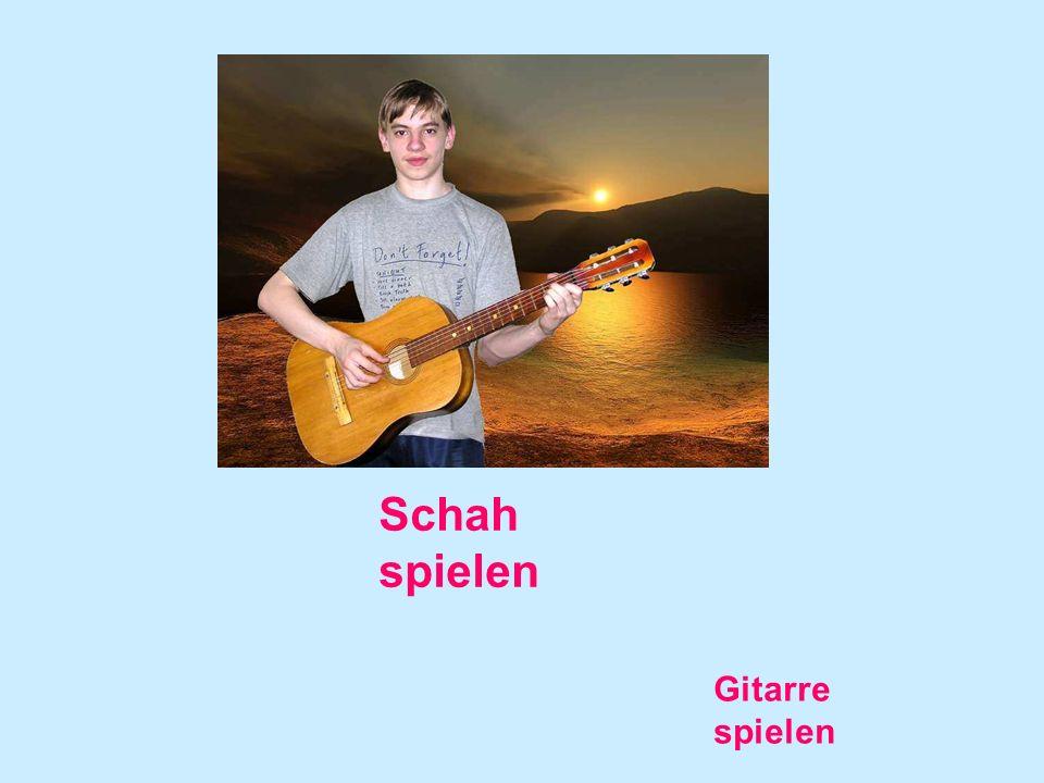 Schah spielen Gitarre spielen